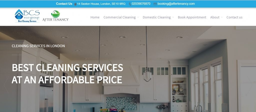 Website Design Example - Best Cleaning Services
