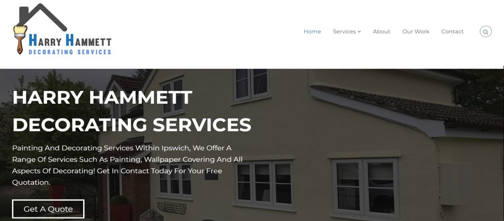 Website Design Example - Harry Hammet
