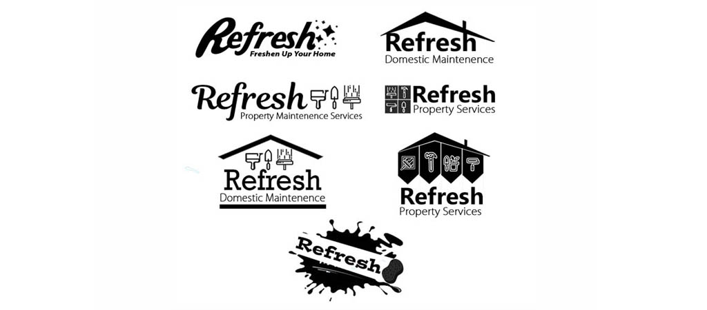 Logo Design Concepts for Refresh Property Services