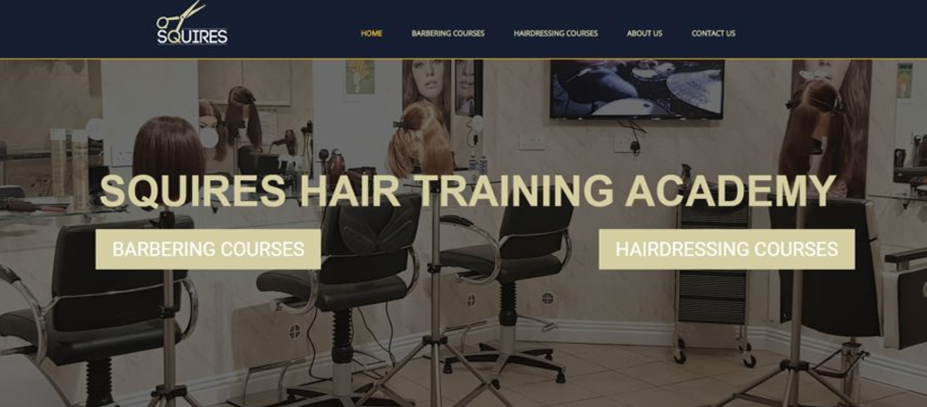 Website Design Example - Squires Hair Academy